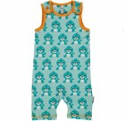 Seal short playsuit dungarees by Maxomorra in organic cotton