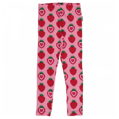 Maxomorra strawberry organic cotton leggings