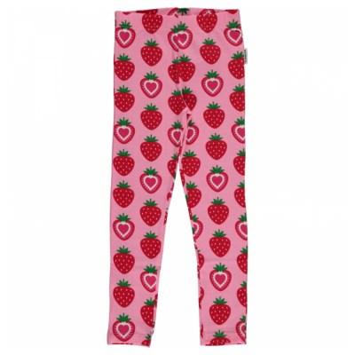 Maxomorra strawberry organic cotton leggings