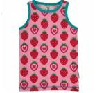Maxomorra ~ strawberry organic cotton sleeveless vest
