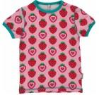 Maxomorra strawberry organic cotton short sleeve t-shirt