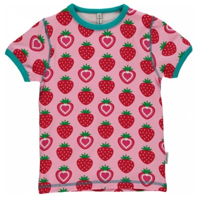 Maxomorra strawberry organic cotton t-shirt