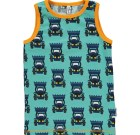 Maxomorra ~ tractor organic cotton sleeveless vest