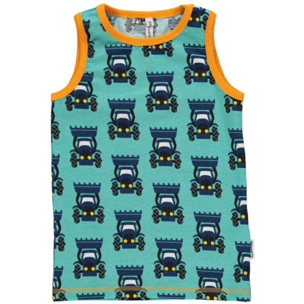 Maxomorra tractor organic cotton sleeveless vest