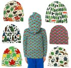 DUNS Sweden organic beanies: radishes | wind in the willows | forest life | rowanberry | leaves | pine forest