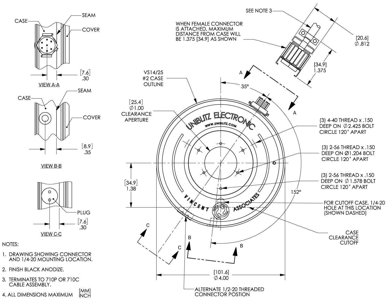 Vs14 14mm Optical Shutter