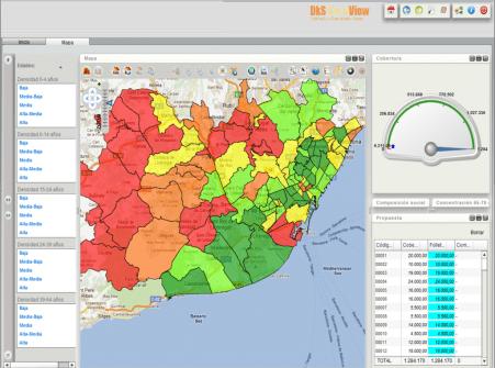 geosmart mapa+gauge, caso buzoneo