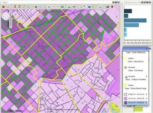 Geosmart farma. Selección múltiple de secciones censales en mapa