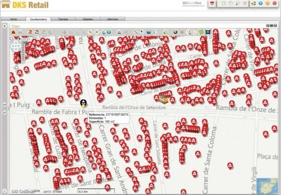 Geosmart retail mapa catastro