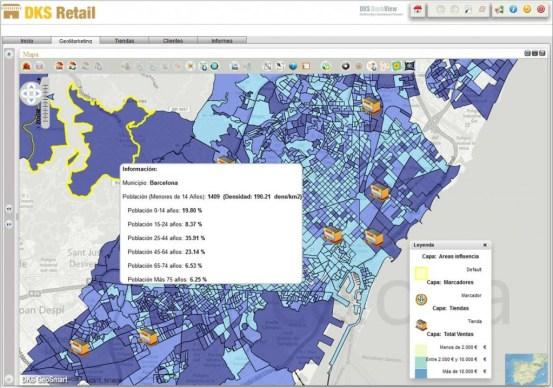 Geosmart retail mapa de tasa de niños