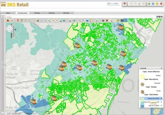 Geosmart retail, mapa de venta y selección
