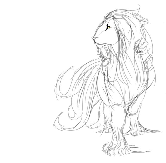 Kézzel rajzolt oroszlán