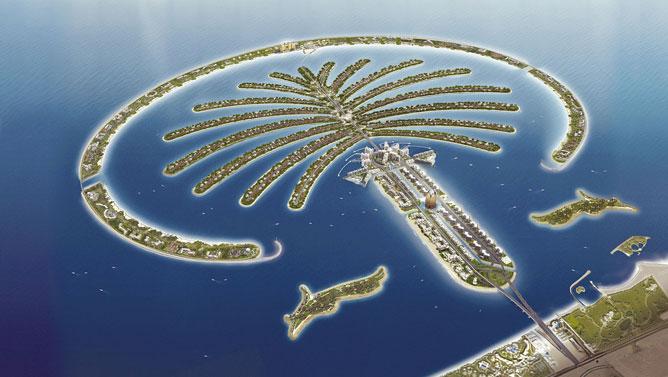 A dubai pálma sziget.