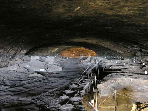 A Dél-Afrikában található Wonderwerk-barlang.