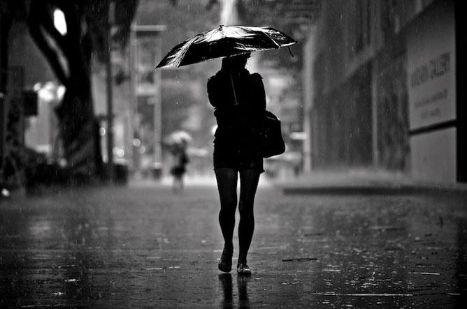 Esős nap.