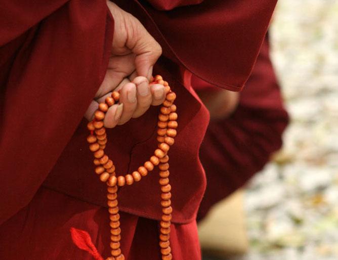 buddhista szerzetes.