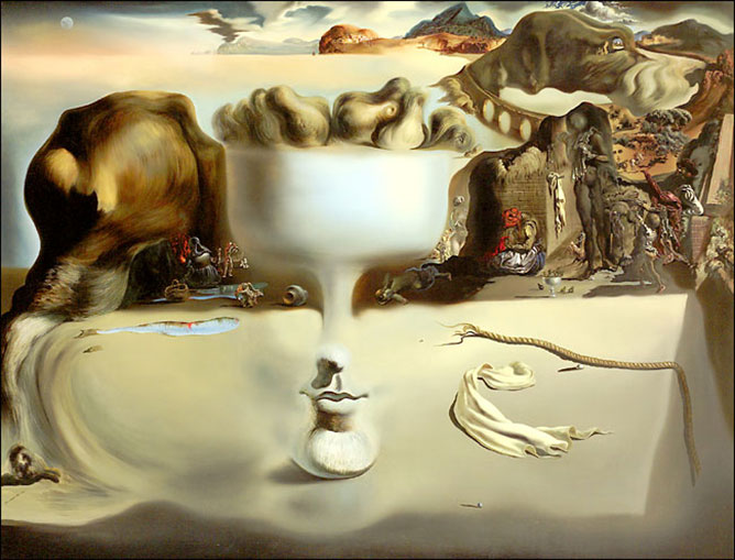 Salvador Dali képe.