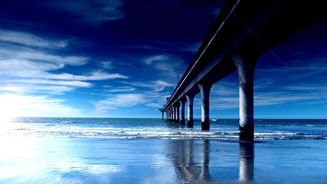 blue sea.
