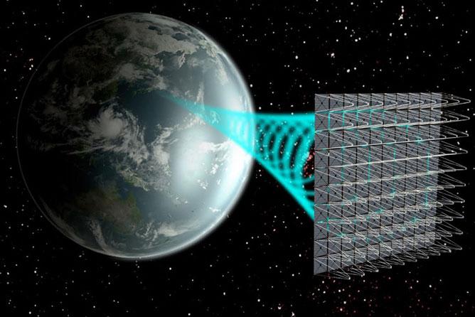 napenergia használata a világűrben.