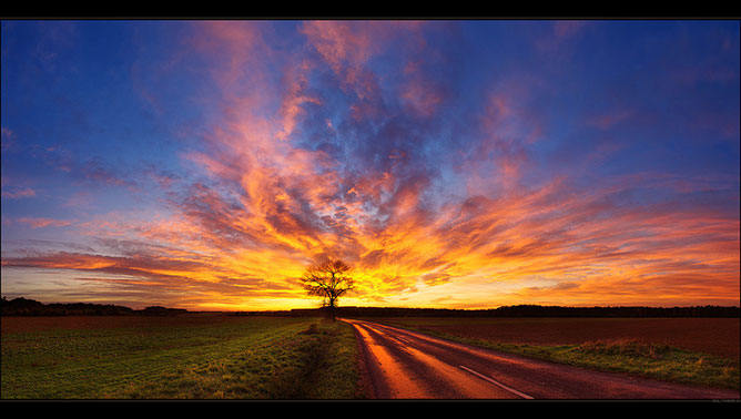 nice color sky.