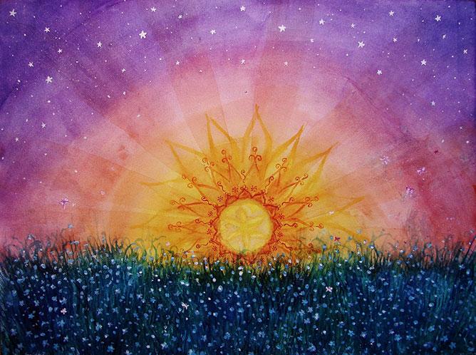 Sunset and stars.