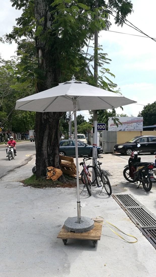Center pillar parasol stainless steel pole Dia. 2.1meter