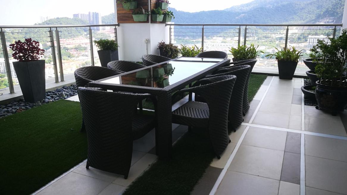 Harmony residence balcony furniture