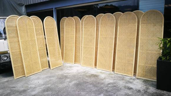 Rattan screen / partition