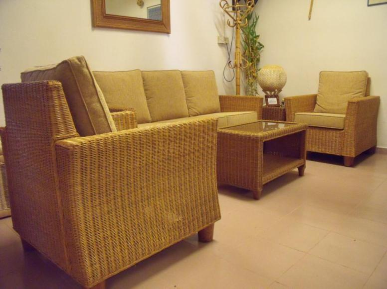 Hampton Wicker Sofa Set