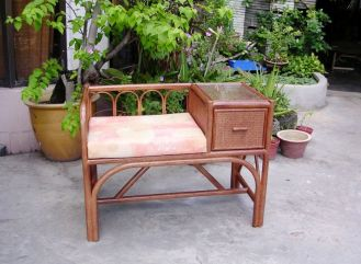 Rattan Telephone Table 1196
