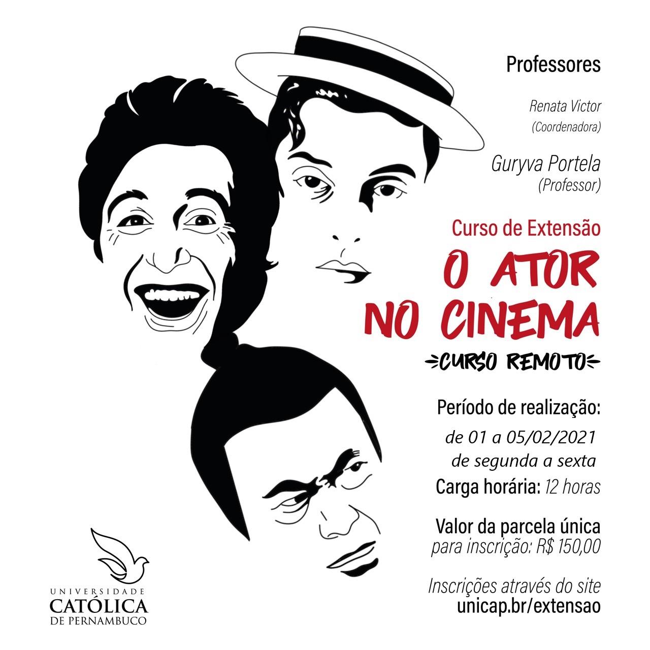 O ATOR NO CINEMA – (Curso remoto)