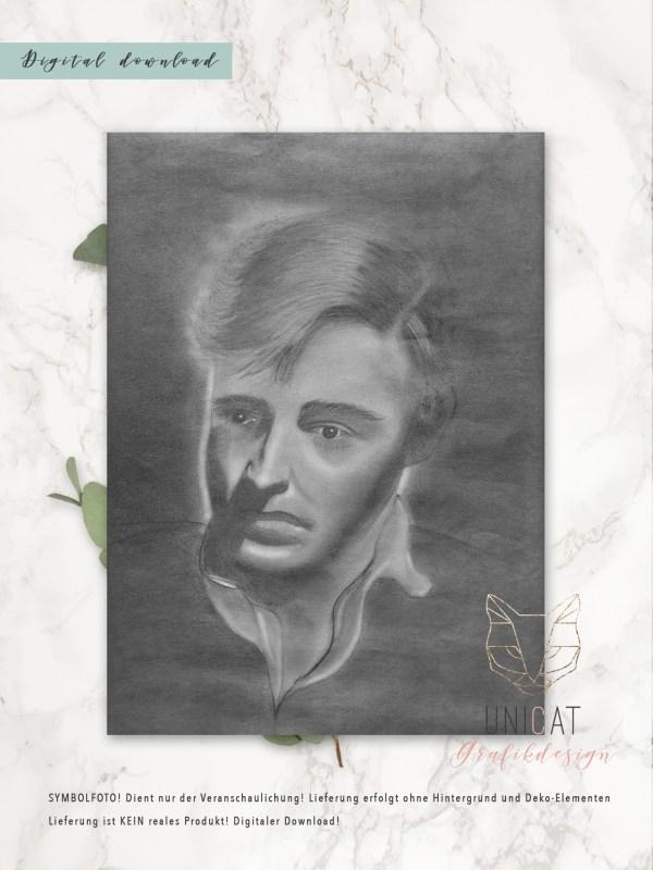Kunstdruck Oskar Werner