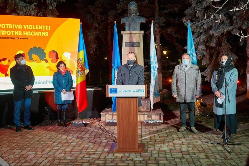 Xavier R. Sire, Reprezentantul de Țară adjunct a.i. al UNICEF Moldova în cadrul conferinței de presă organizată la Ungheni