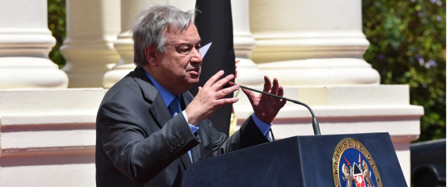 SG-Antonio Guterres at State House, Kenya