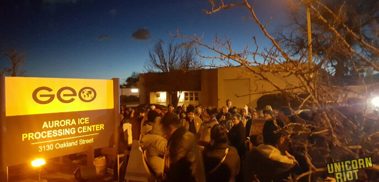 Love Knows No BAN No Walls Vigil at GEO ICE Detention Center