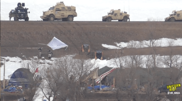 North Dakota Dismantles #NoDAPL Oceti Camp F23-Hmv4