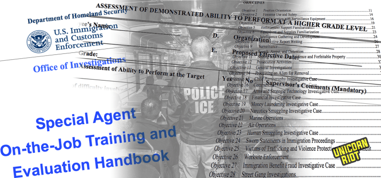 Icebreaker Pt 4 – Homeland Security Special Agent On-the-Job Training Manual