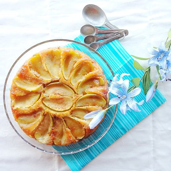 Apple Upside Down cake is a great treat for fall evenings and holidays!