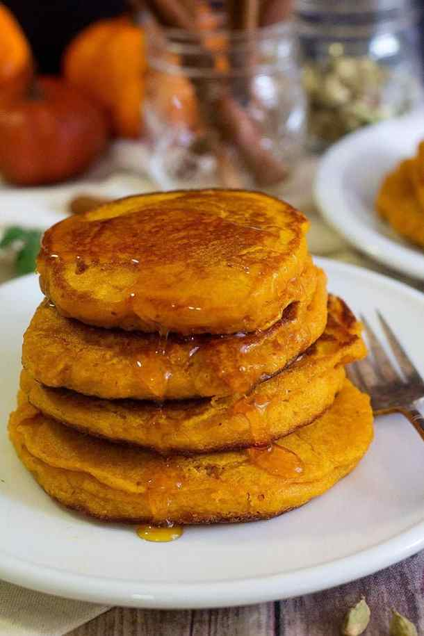 An easy pumpkin pancake recipe that can be made in no time and is loved by everyone.
