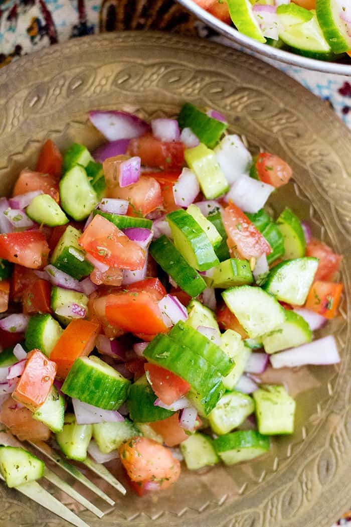 Salad Shirazi is a light and easy Persian salad that is a delicious alternative to the usual side dishes. It's refreshing, healthy and easy.