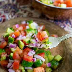 Salad Shirazi (Persian Cucumber Tomato Salad)