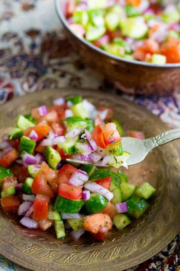 Add some dried mint and lemon juice to this Persian salad for maximum flavor.