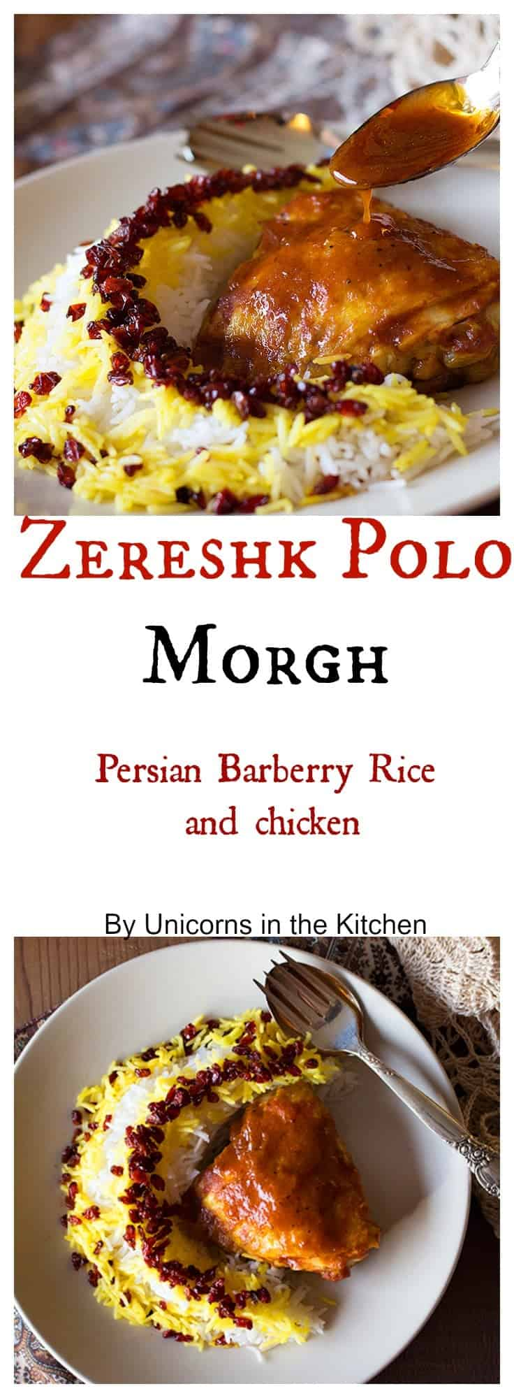 Zereshk Polo Morgh Persian Barberry Rice with Chicken Unicorns
