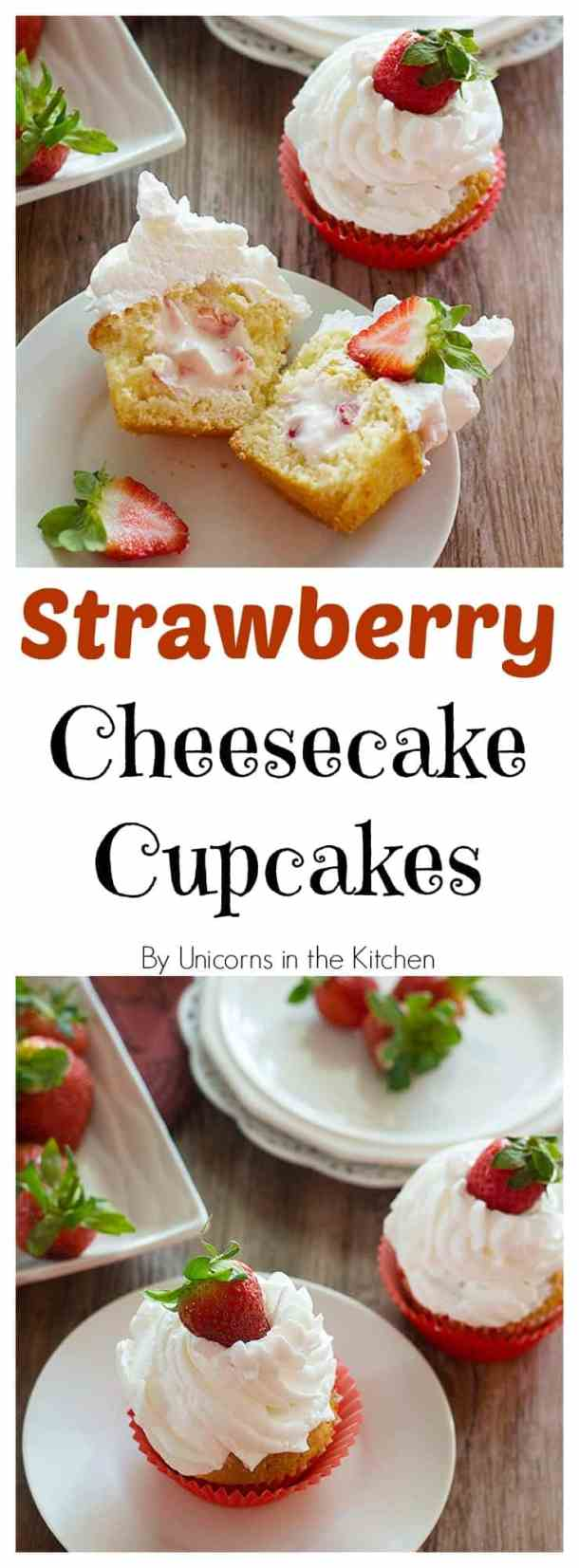 Strawberry Cheesecake Cupcakes are a match made in heaven! Enjoy them the most by adding some strawberries! They are fluffy, fresh and irresistibly delicious!