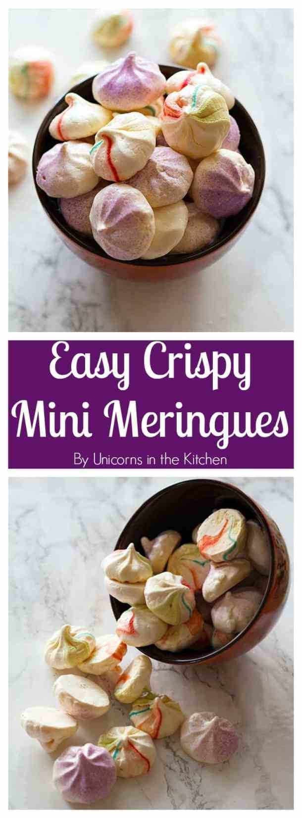 These Easy Crispy Mini Meringues are indeed easy! Just follow a few tips and you will have delicious and crispy meringues all the time!