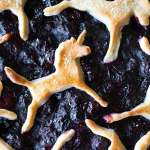 The best ever unicorn blueberry pie which doesn't drip and has the flakiest crust! an extra step makes the filling so silky and nice!