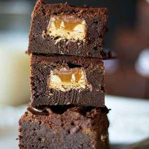 The Best Snickers Brownies