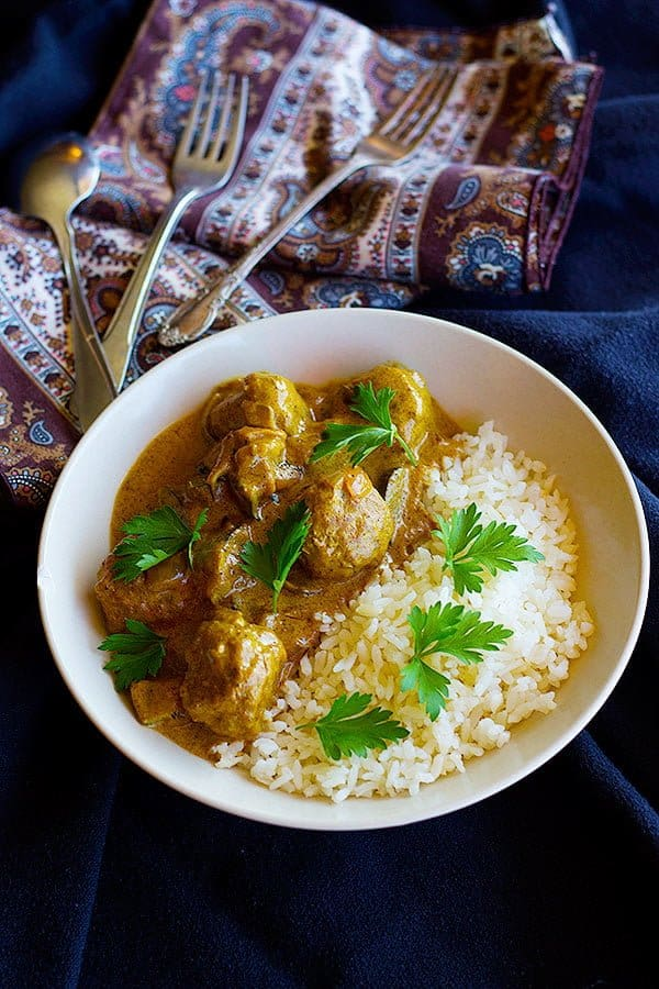 Spice up your curry game with this Turkey Meatball Curry which has a special ingredient that gives a nice kick to the dish. Serve with a side of rice to turn it into a full meal!