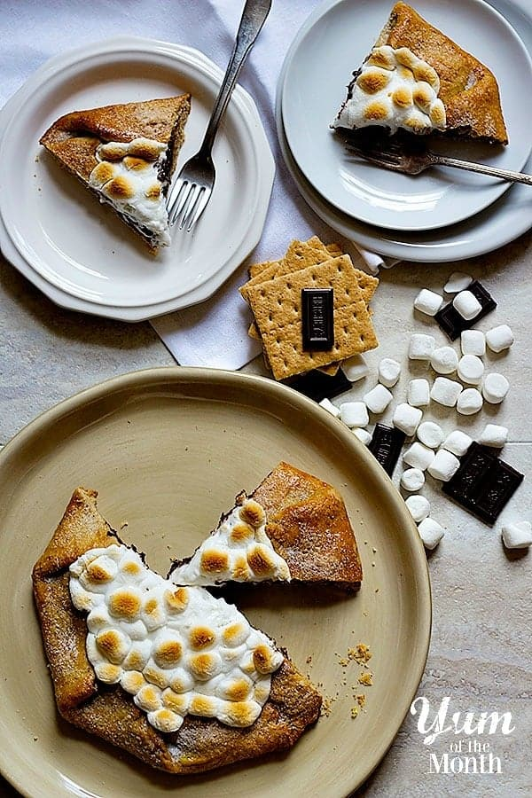 S'mores are delicious in any shape or form. Make this super easy S'mores Galette with graham cracker crust and enjoy a wonderful summer!