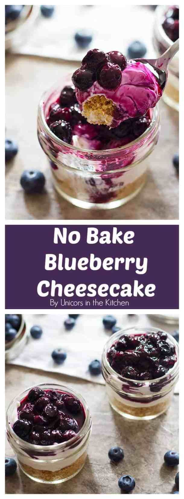 Whip up this indulgent No Bake Mini Blueberry Cheesecake in less than 30 minutes with very basic ingredients! It's creamy, velvety and will make you super happy!